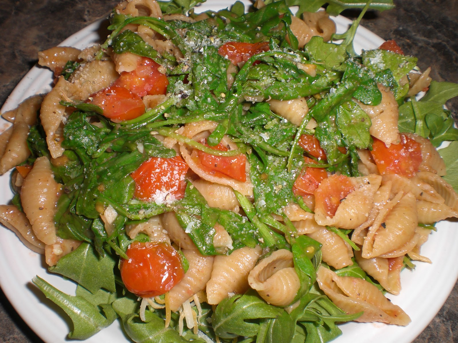 Orecchiette With Cherry Tomatoes And Arugula Recipe — Dishmaps