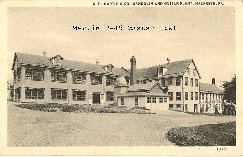 Martin D-45 Master List