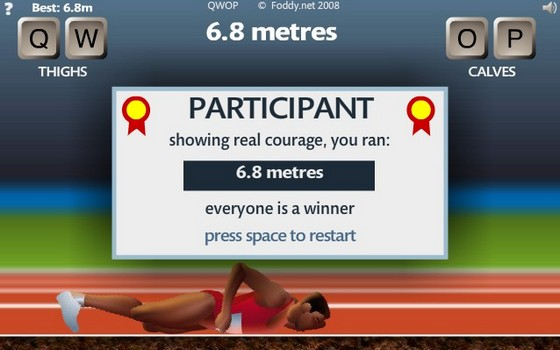 QWOP Game - running simulation