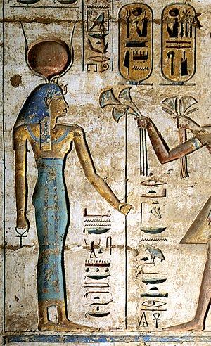 Hathor  -  Ramesse III.  -  Medínit Habu - 2005
