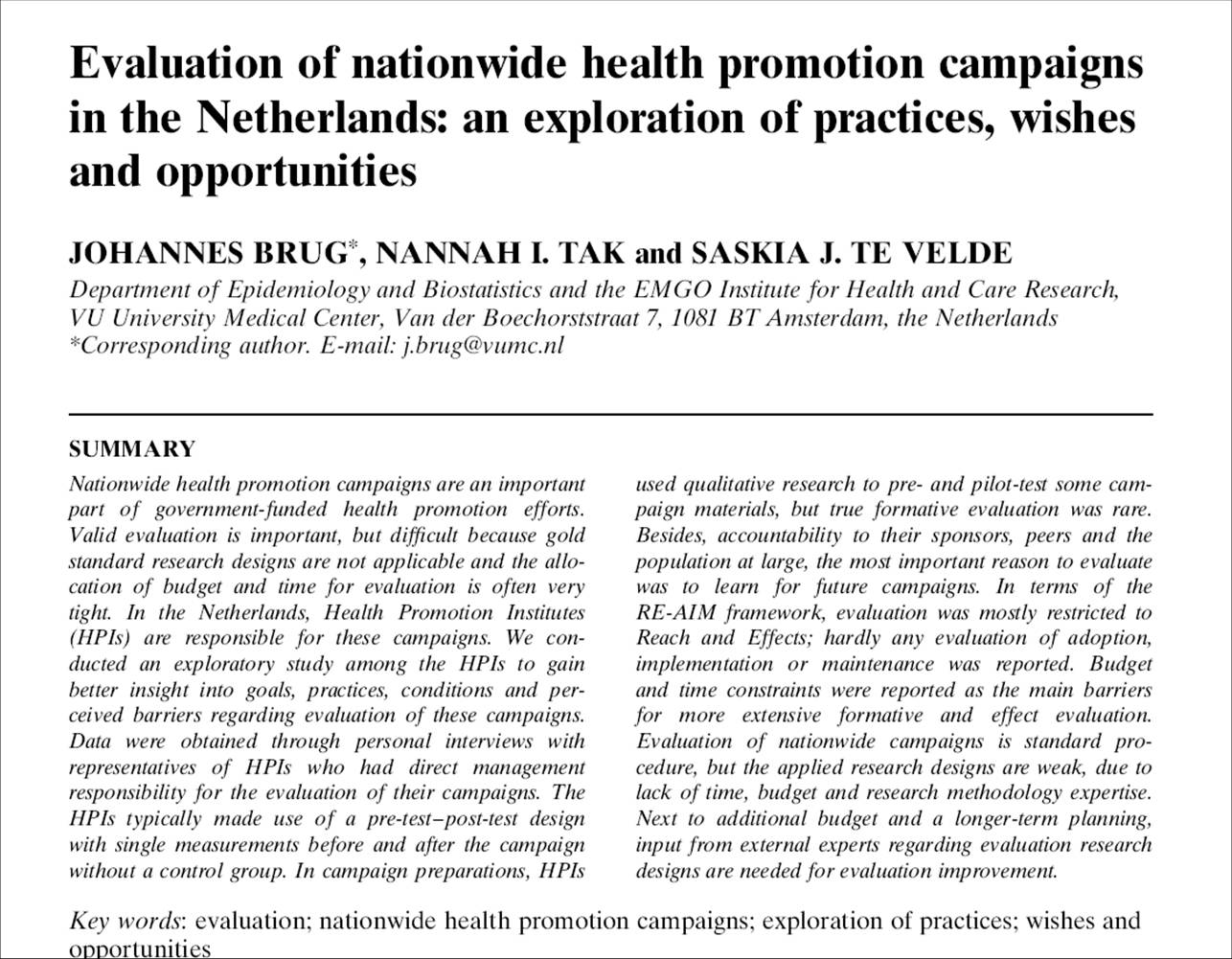 Health Promotion Essay   Case Studies   PrimeEssays.com
