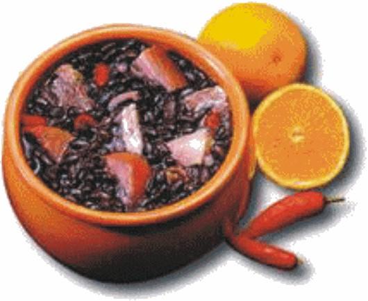 Da mistura de feijão-preto, Paio e carne seca