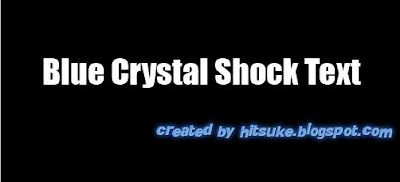 Blue Crystal Shock Text