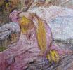 mujer peinándose, Lautrec