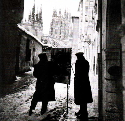Catedral de Burgos, invierno de 1910, Sorolla en plena faena