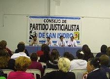 Reuniones Ordinarias del PJ San Isidro
