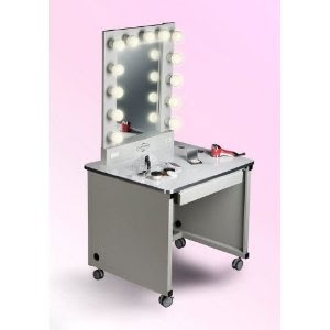 Lighted Make Up Table Off White Frame White Sur Lighted Make Up Table O