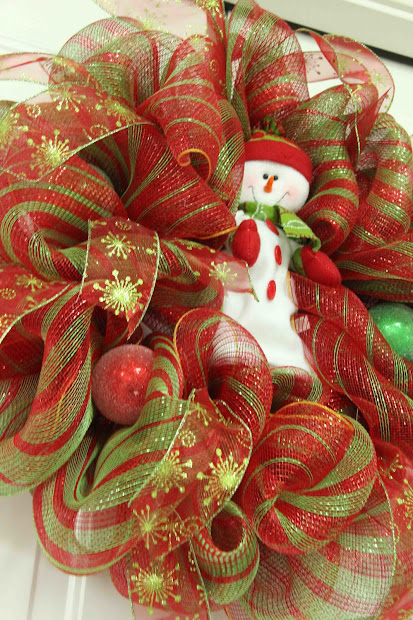 Christmas Deco Mesh Ribbon Wreath
