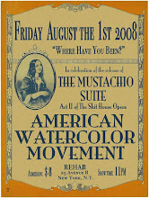 American Watercolor Movement : the Moustachio Suite Act II of the Shit House Opera