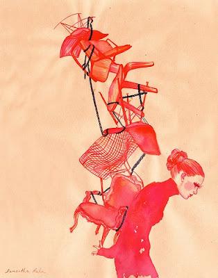 Ilustração: Burden, by Samantha Hahn