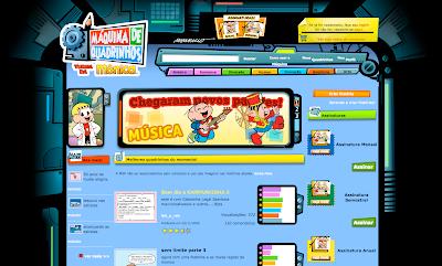 Website: Máquina de Quadrinhos