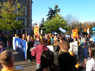 DFL on the march, November 1, 2008 (photo: North Star Liberty)