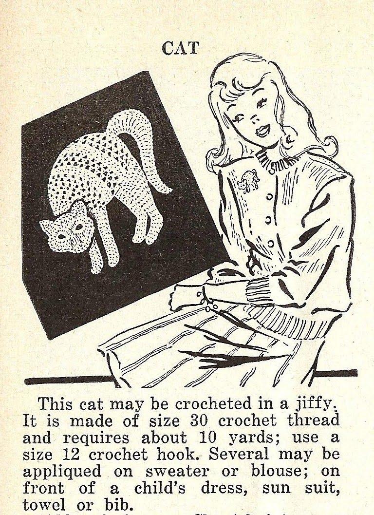 Little grey bungalow crochet a cat motif from 1948 crochet a cat motif from 1948 bankloansurffo Choice Image