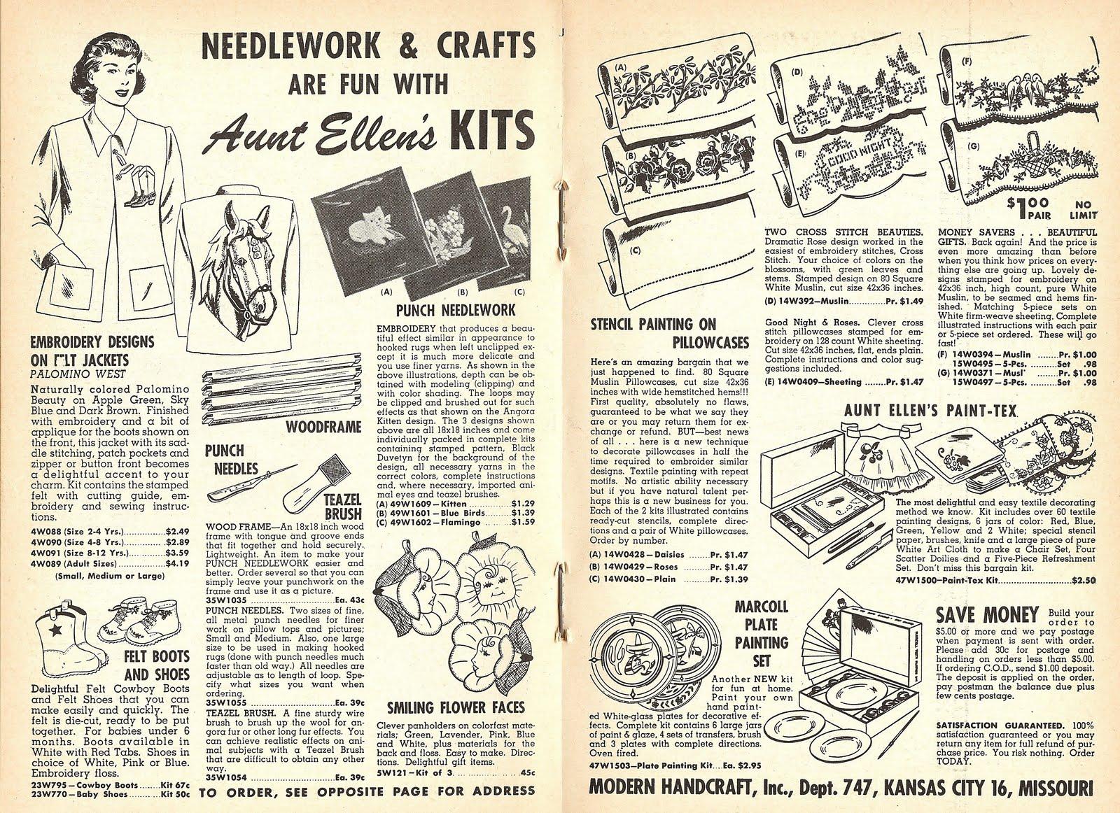 Little Grey Bungalow: Patterns of the Past - Kits From Aunt Ellen