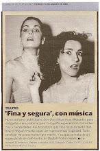 """""""EL PAÍS"""" se hacía eco del Cabaret."""