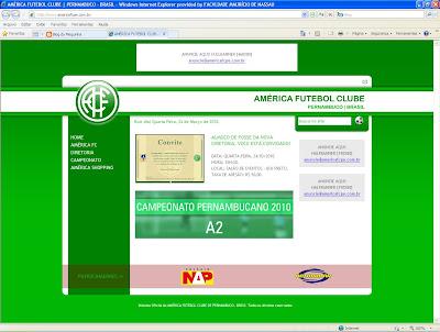 Antes da posse de João Moreira, América põe site oficial no ar