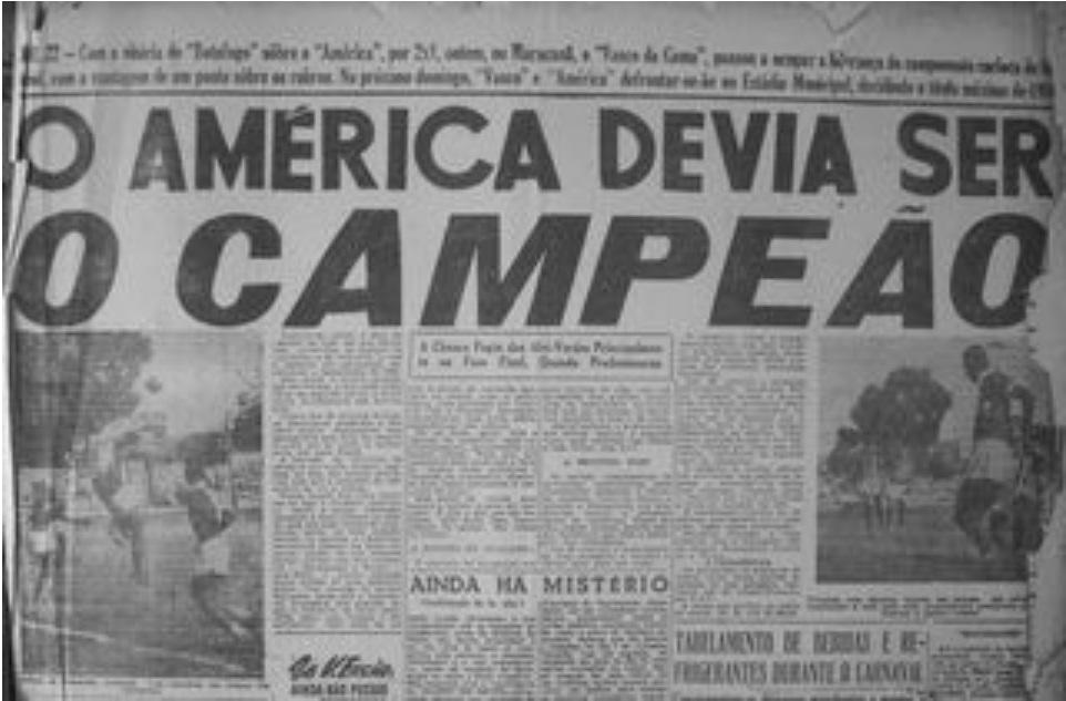 O Mequinha das arquibancadas - 1950