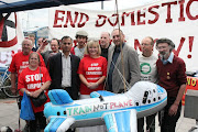 The Campaign Against Climate Change (CCC) demo 'No to Domestic Flights' got .