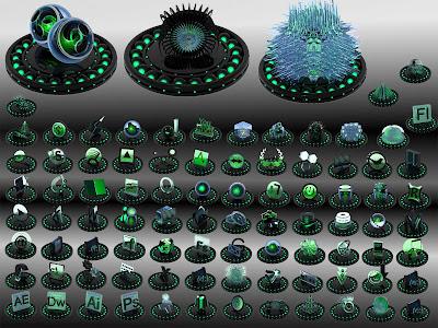pepua personalizacion Black and green iconos dock descarga