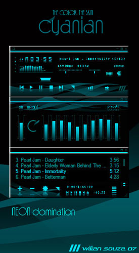 winamp  media player pepua personalizacion