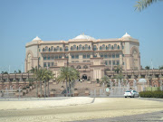 While at Emirates Palace we visited an exhibit with elaborate models of the . (emirates palace)