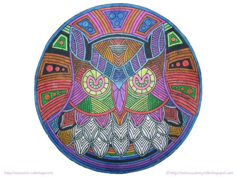 Les trucs de myrtille colorier des mandalas pour changer - Colorier des mandalas ...