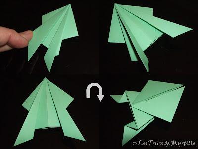 Les Trucs De Myrtille Plier Une Grenouille Vite Fait Origami Toujours