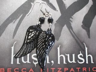 Hush, Hush inspired feather earrings