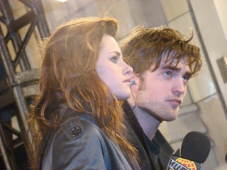 Kristen Stewart and Robert Pattinson at Much Music