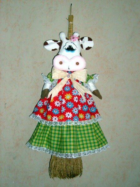 lindas manualidades: Vaquita para decorar