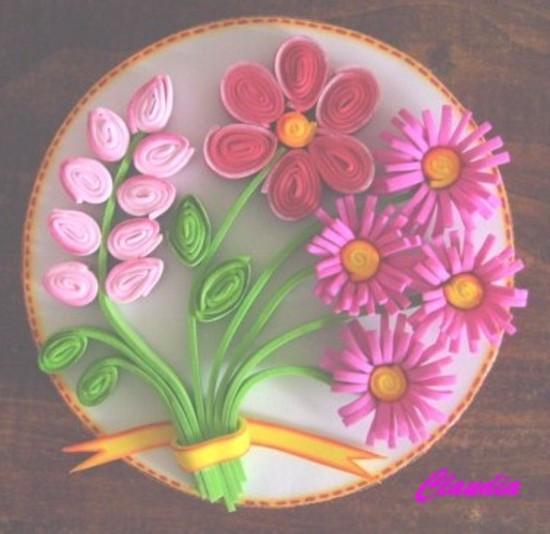 Cajita Con Flores En Filigrana   Foamy