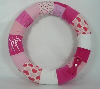 breast cancer awareness rewreath wreath