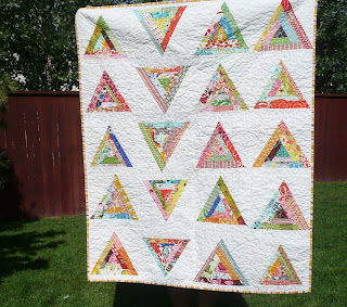 wonky triangle quilt blogger's quilt festival