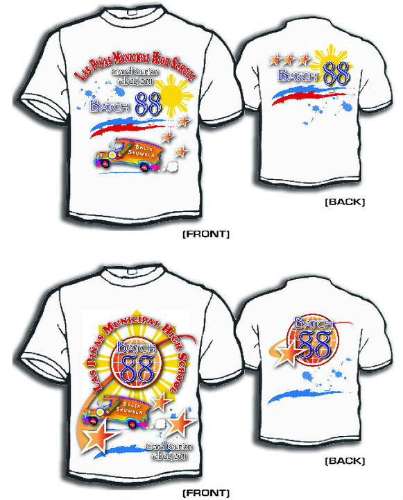 School Reunion: Daniel Noora's Photos  Tshirt Batch 88 Logo Design