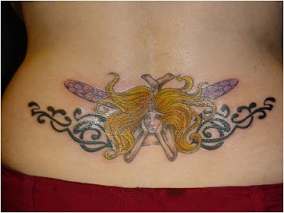 Cute Lower Back Fairy Tattoos picture 5