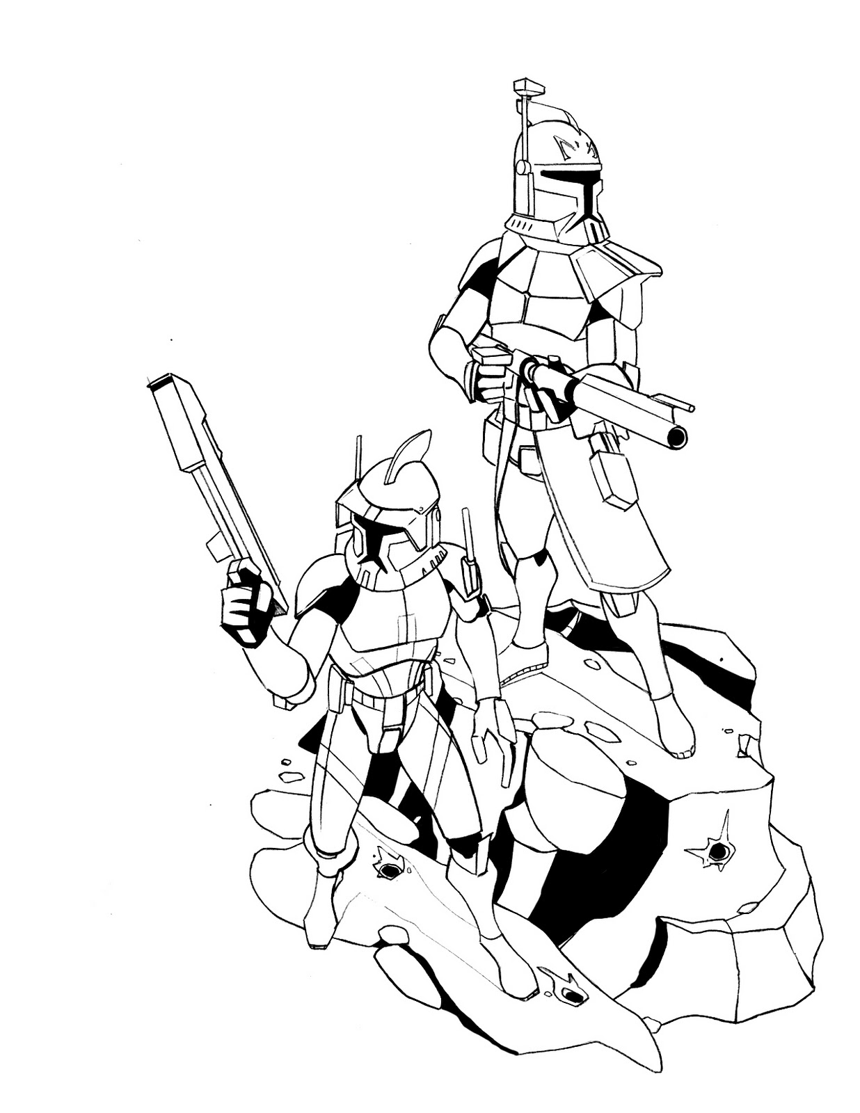 Free Coloring Pages Of The Clone Commander