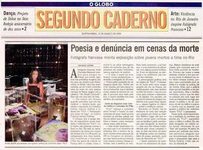 materia do jornal O Globo do dia 12 de março de 2009