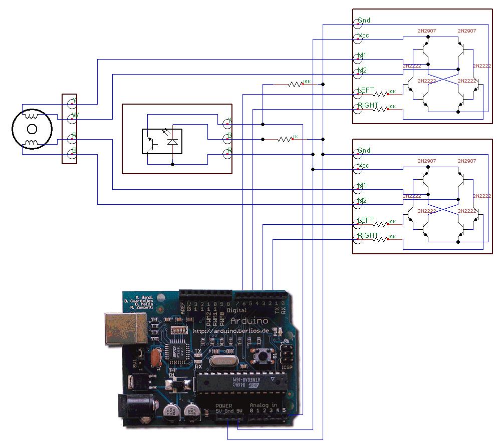 Arduino stepper motor control Simple stepper motor driver circuit