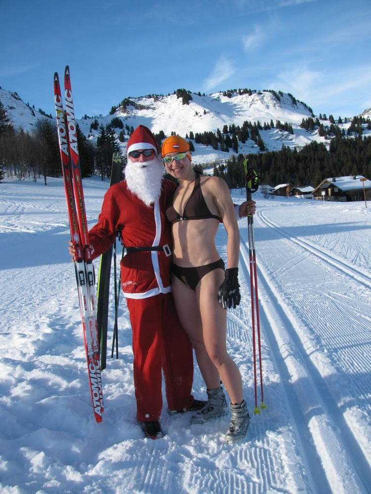 Here is a video from bikini ski: