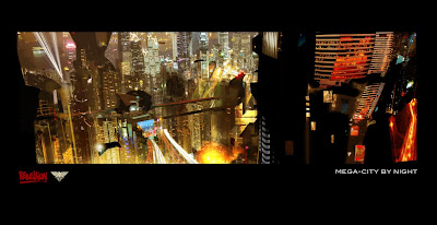 Mega City by night - Judge Dredd Movie