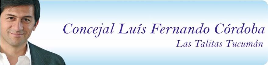 Concejal Luis Fernando Córdoba