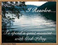 Resolve to spend a quiet moment with God 2day