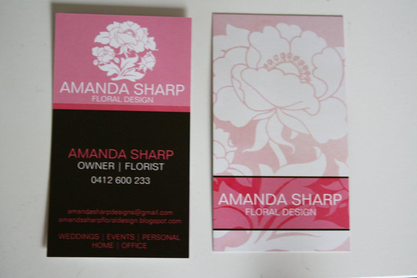 Amanda Sharp Floral Design: Business Cards!