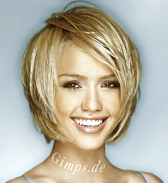 The Awesome Short Dark Wavy Hairstyles Jessica Alba Image