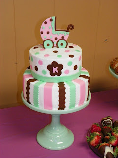 Kandie s Cakes: Baby Carriage Shower Cake