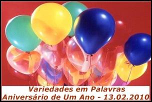 Variedades em Palavras, aniversário de Um Ano.