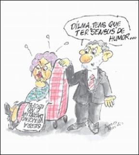Charge. Dilma e Lula e as pesquisas