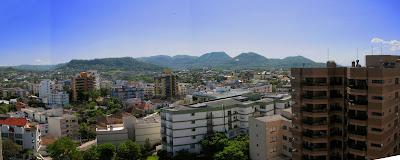 Visao panoramica de Santa Maria,RS