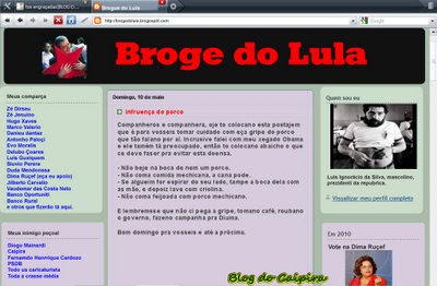 Os blogs dos famosos