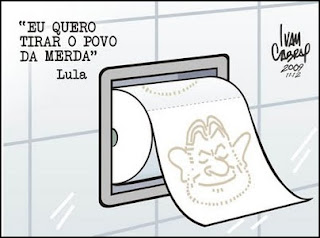 Charge de Ivan Cabral Lula e os Palavrões